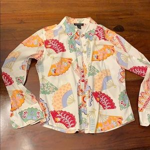 Harold's button down shirt top blouse cotton M